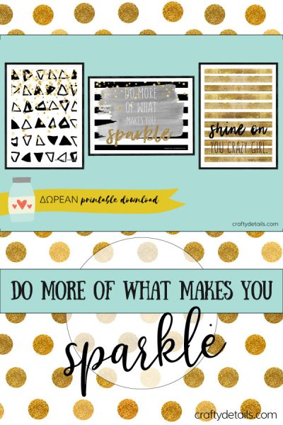 {CRAFTY CLUB} Σετ Με 3 Διακοσμητικα Ποστερ Wall Art – Do More Of What Makes You Sparkle