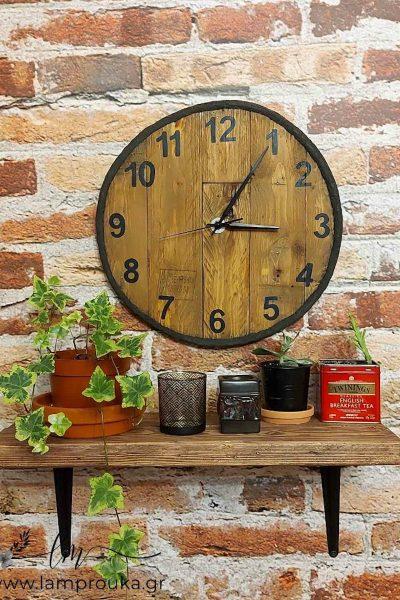 Πως να φτιάξετε ένα ρολόι τοίχου με ξύλα από παλέτες